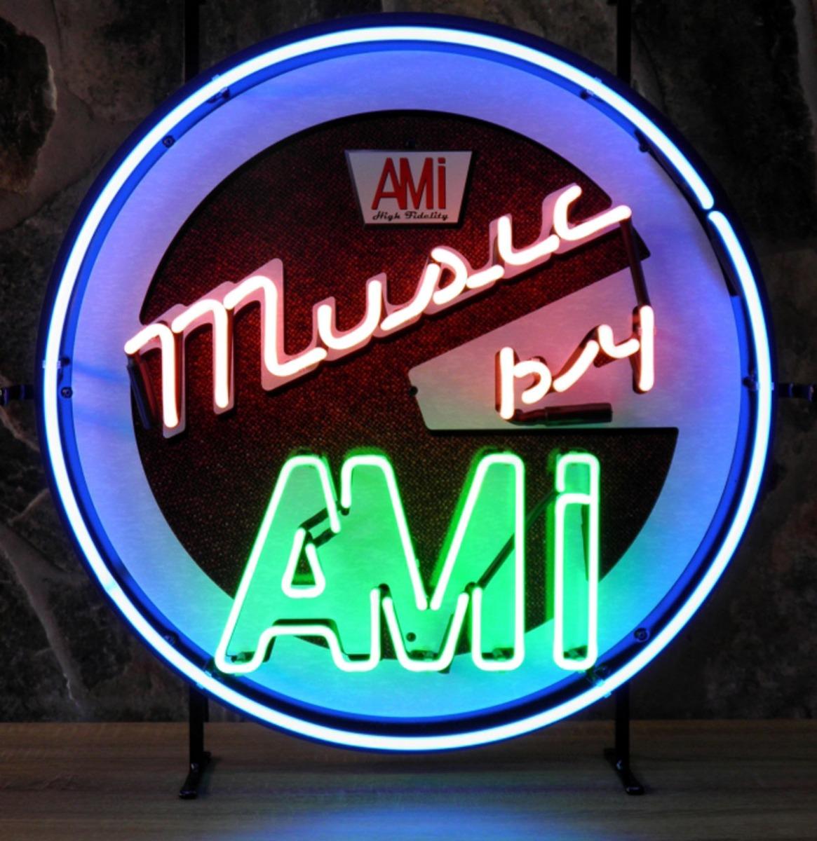 Music By AMI Neon Verlichting Met Achterplaat - 60 x 60 cm
