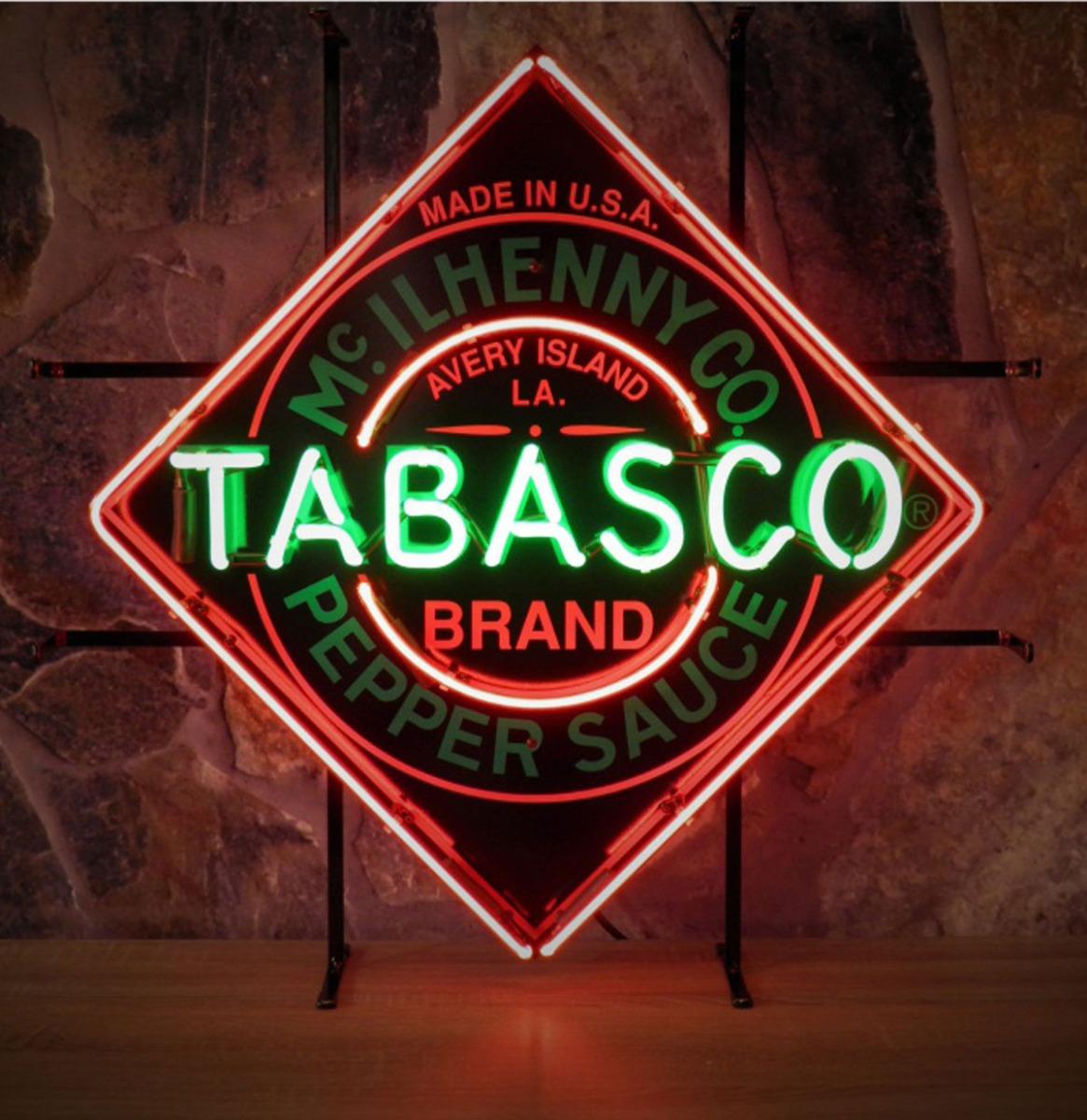 Tabasco Pepper Sauce Neon Verlichting - 70 x 70 cm