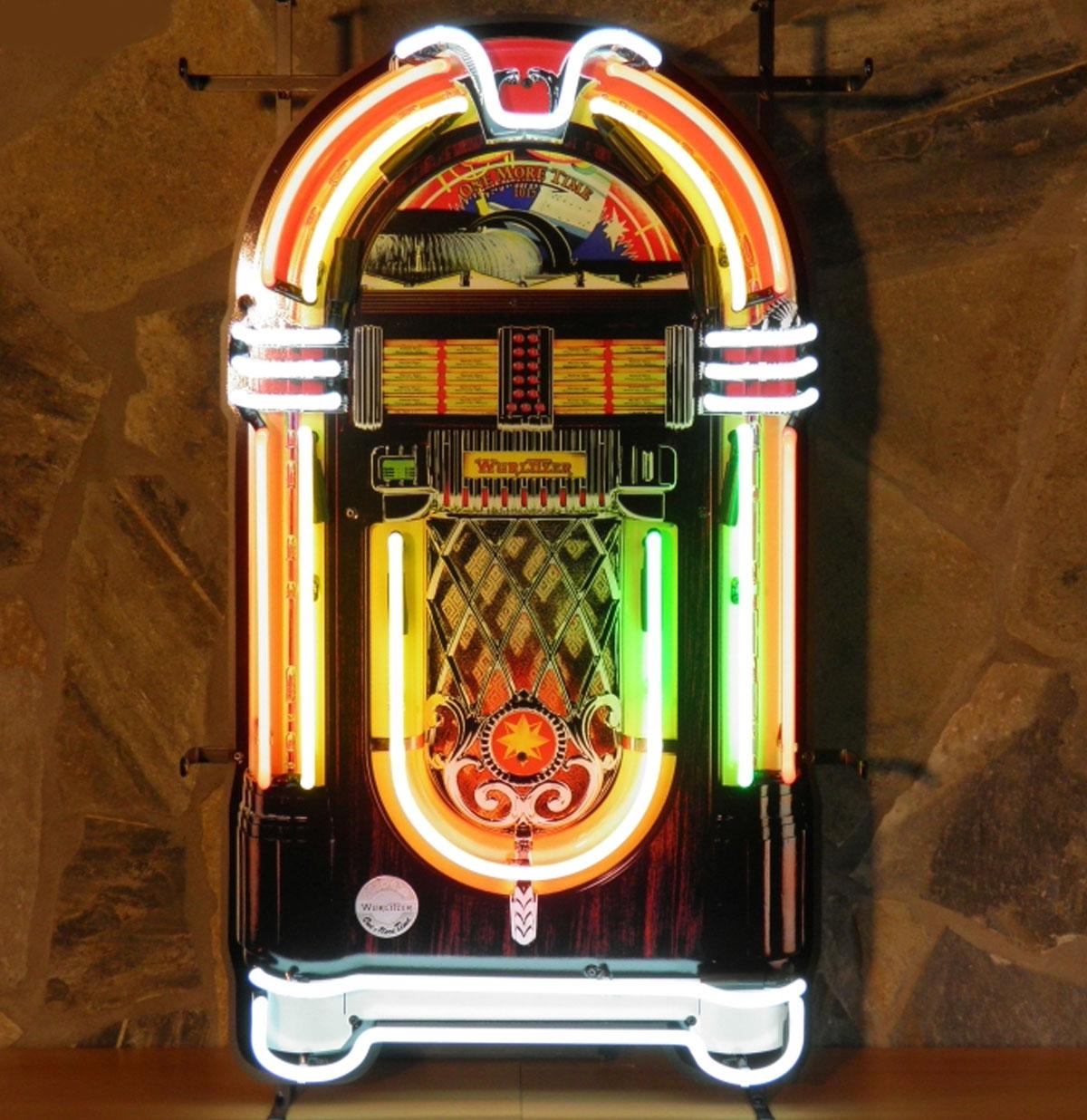 Jukebox Neon Verlichting Met Bord 86 x 51 cm