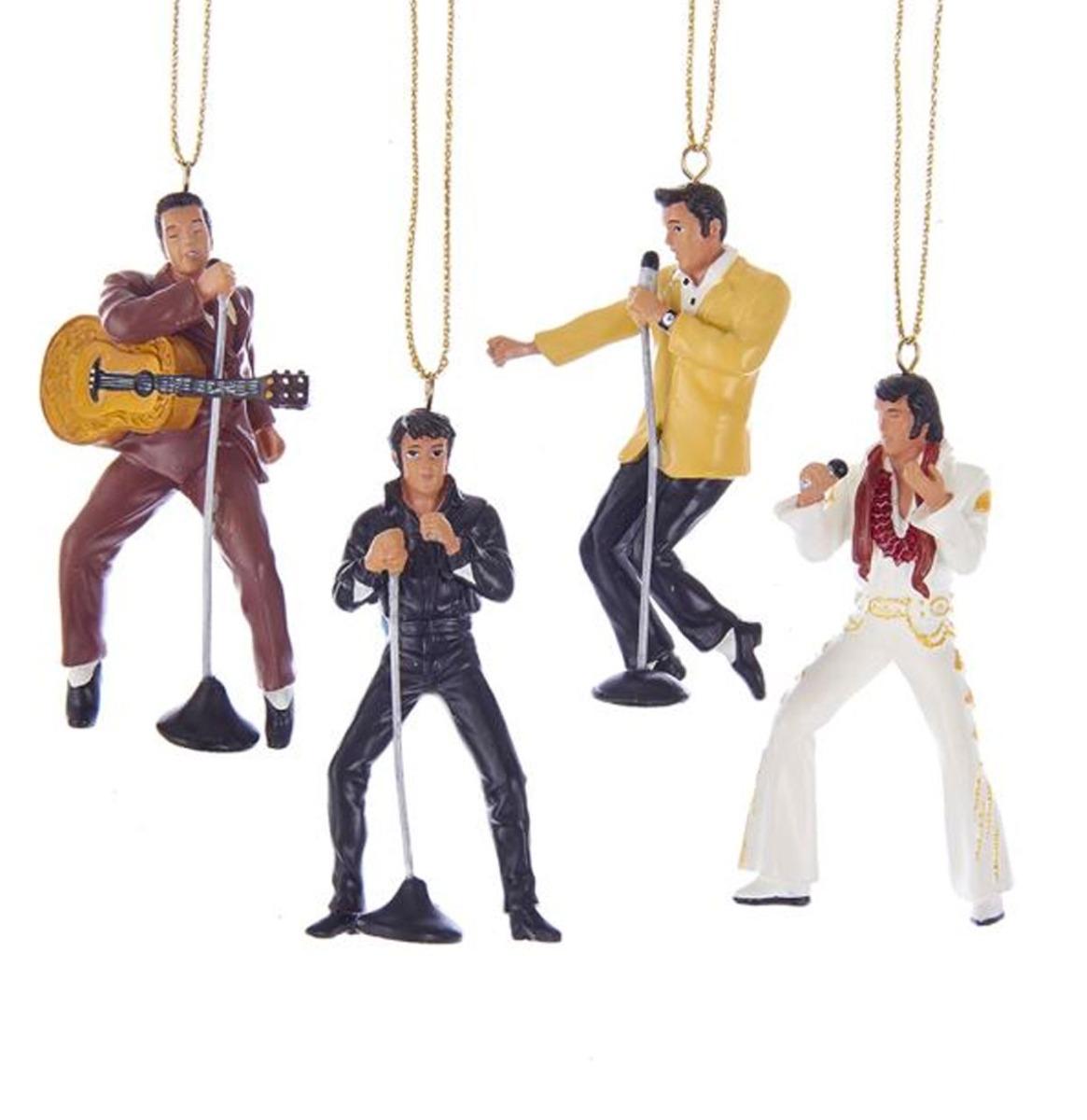 Elvis Presley Kerst Ornament Set Van 4