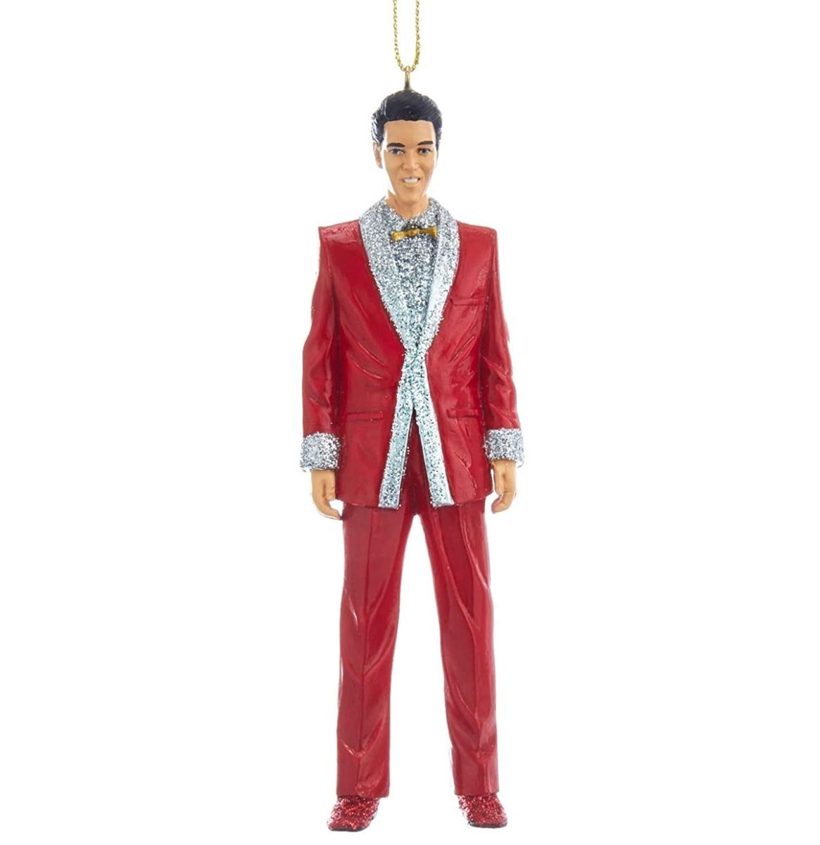 Elvis Presley In Rood Pak Kerst Ornament