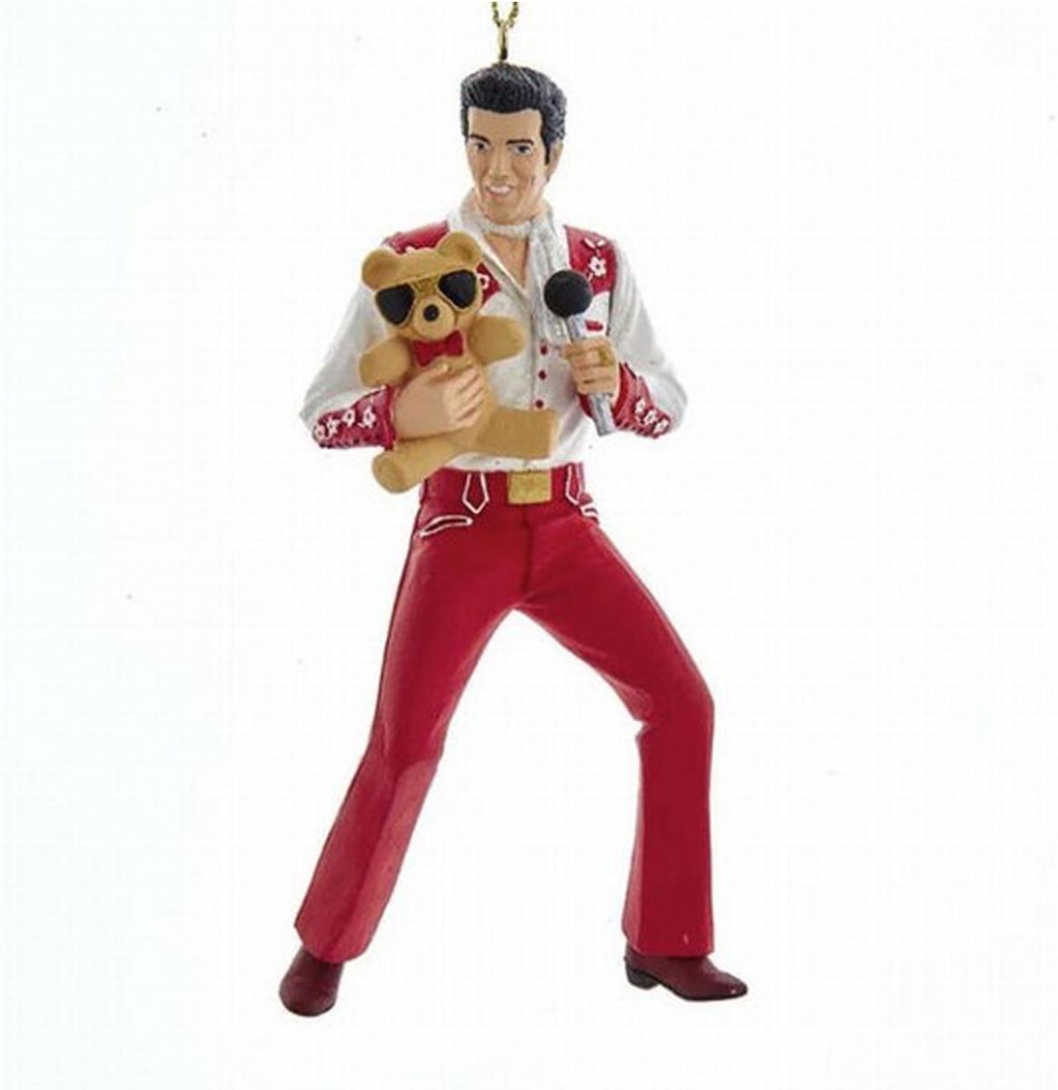 Elvis Presley Met Teddybeer Kerst Ornament