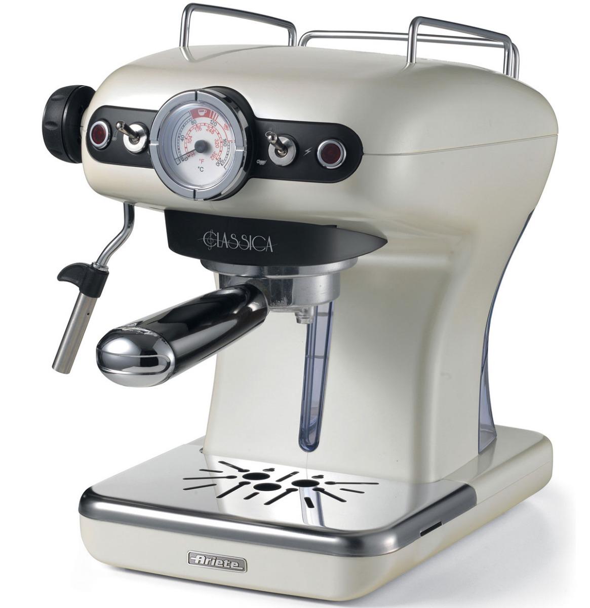 Ariete Retro Espresso Machine Pearl Classica
