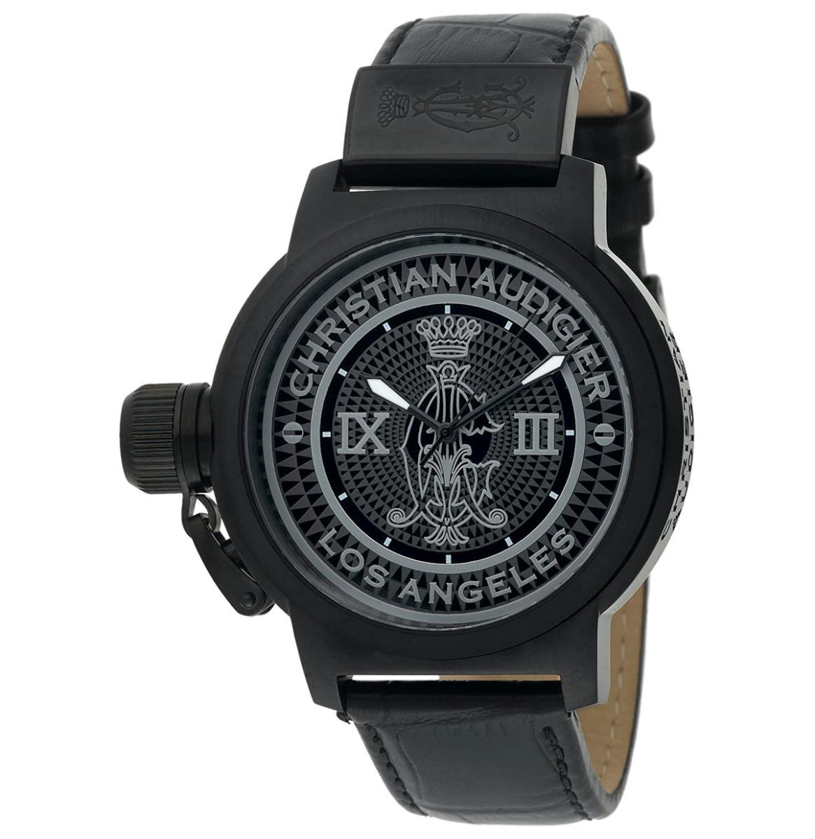 Christian Audigier Unisex ETE-115 Eternity Royal Black Ion-Plating Zwart Horloge
