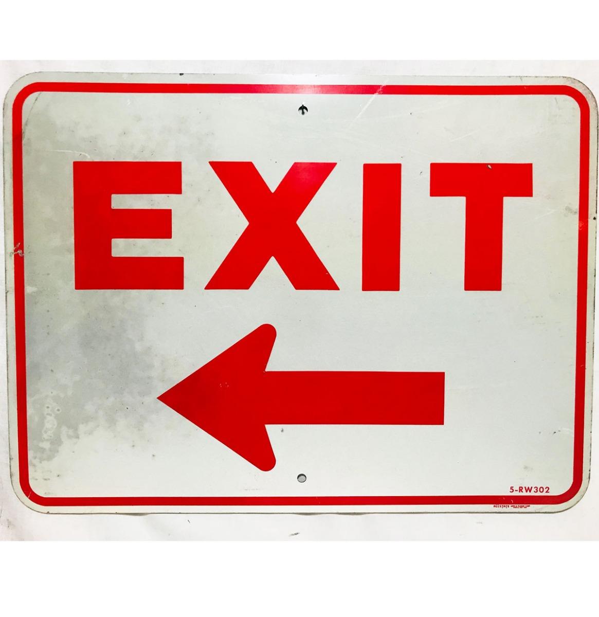 Exit Straatbord - Origineel