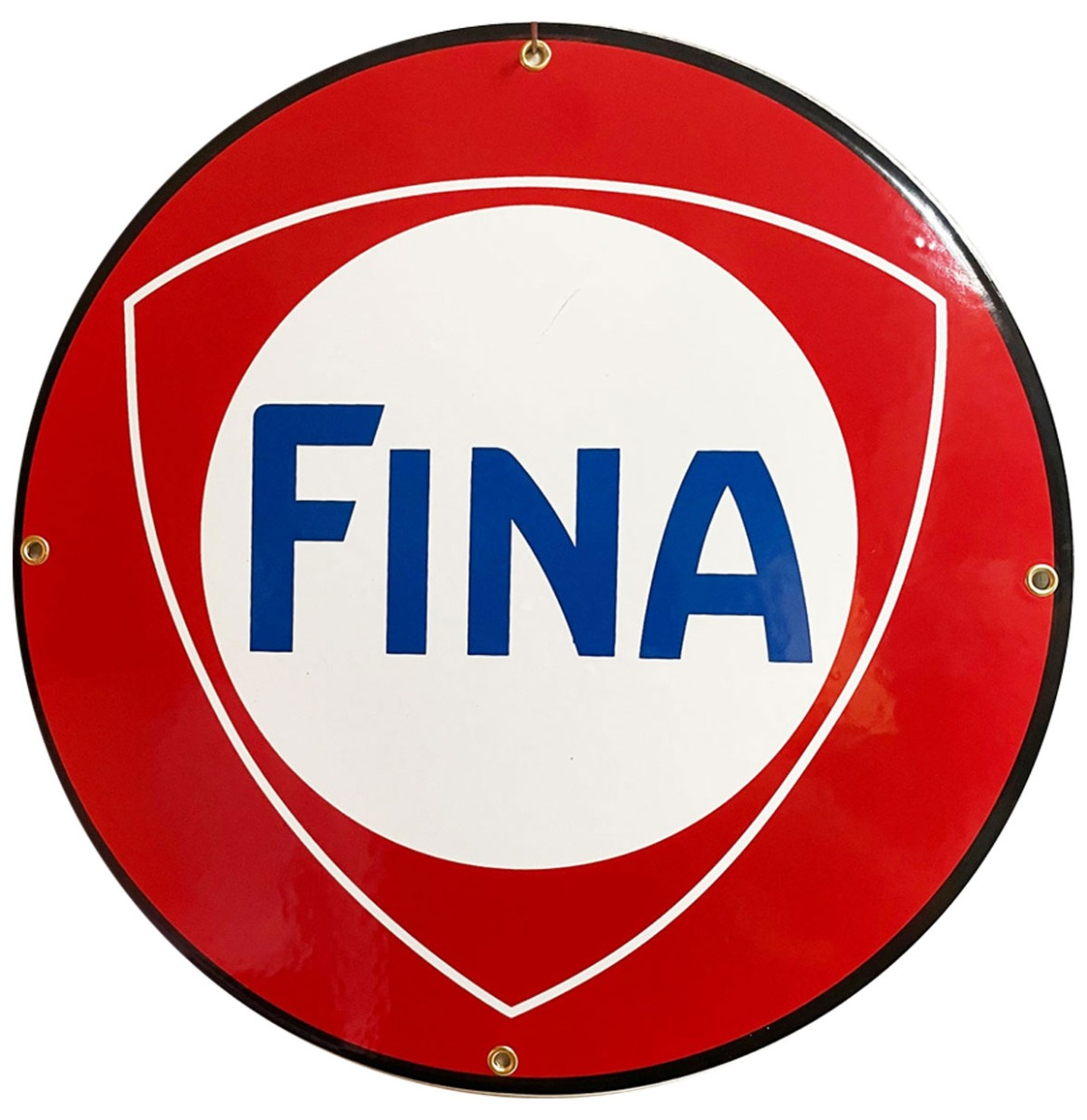 Fina Logo Rond Emaille Bord 30 cm