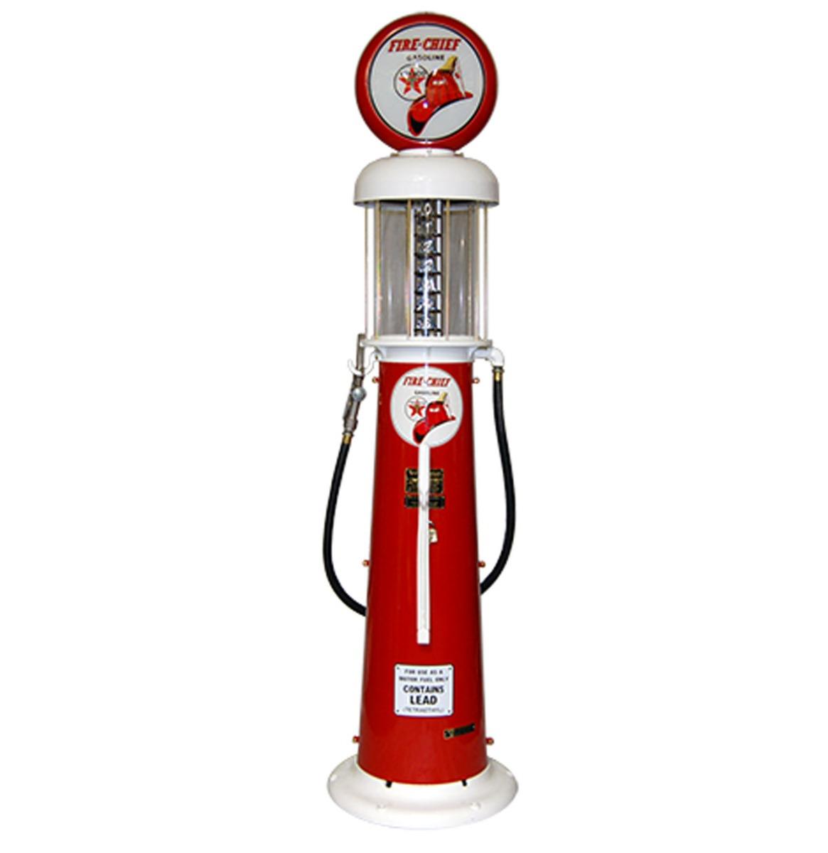 Wayne 615 Texaco Fire-Chief 6 Gallon Benzinepomp - Rood & Wit - Reproductie
