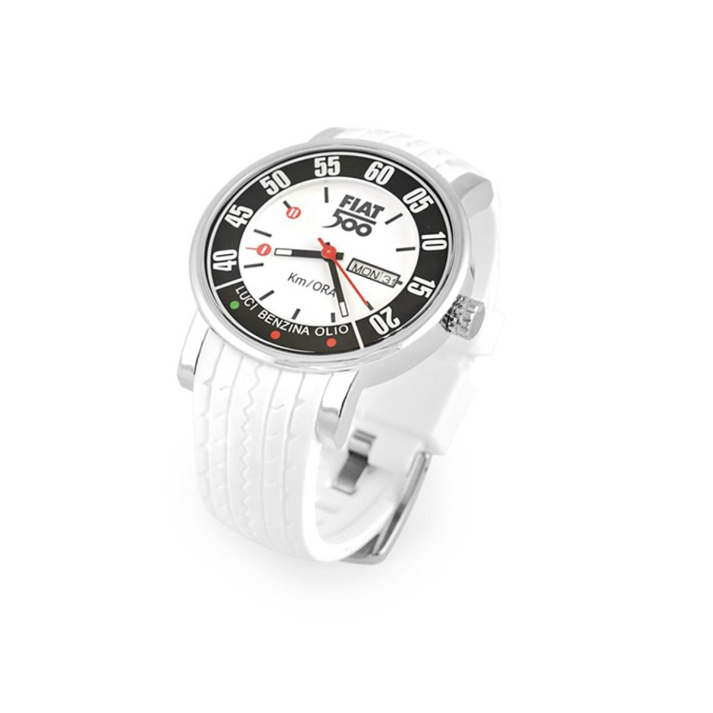 Fiat 500 Pols Horloge Met Silycon Band Wit