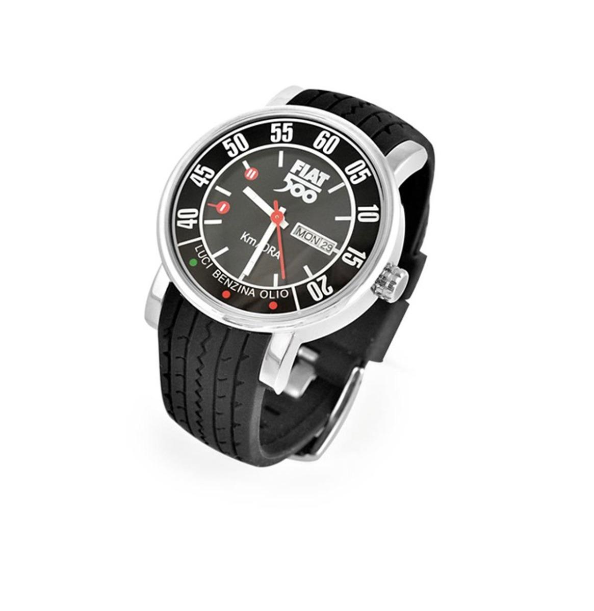 Fiat 500 Pols Horloge Met Silycon Band Zwart