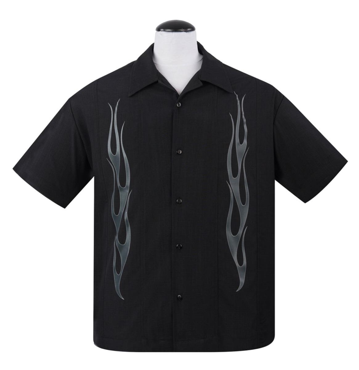 Flame N Hot Shirt Black - Charcoal