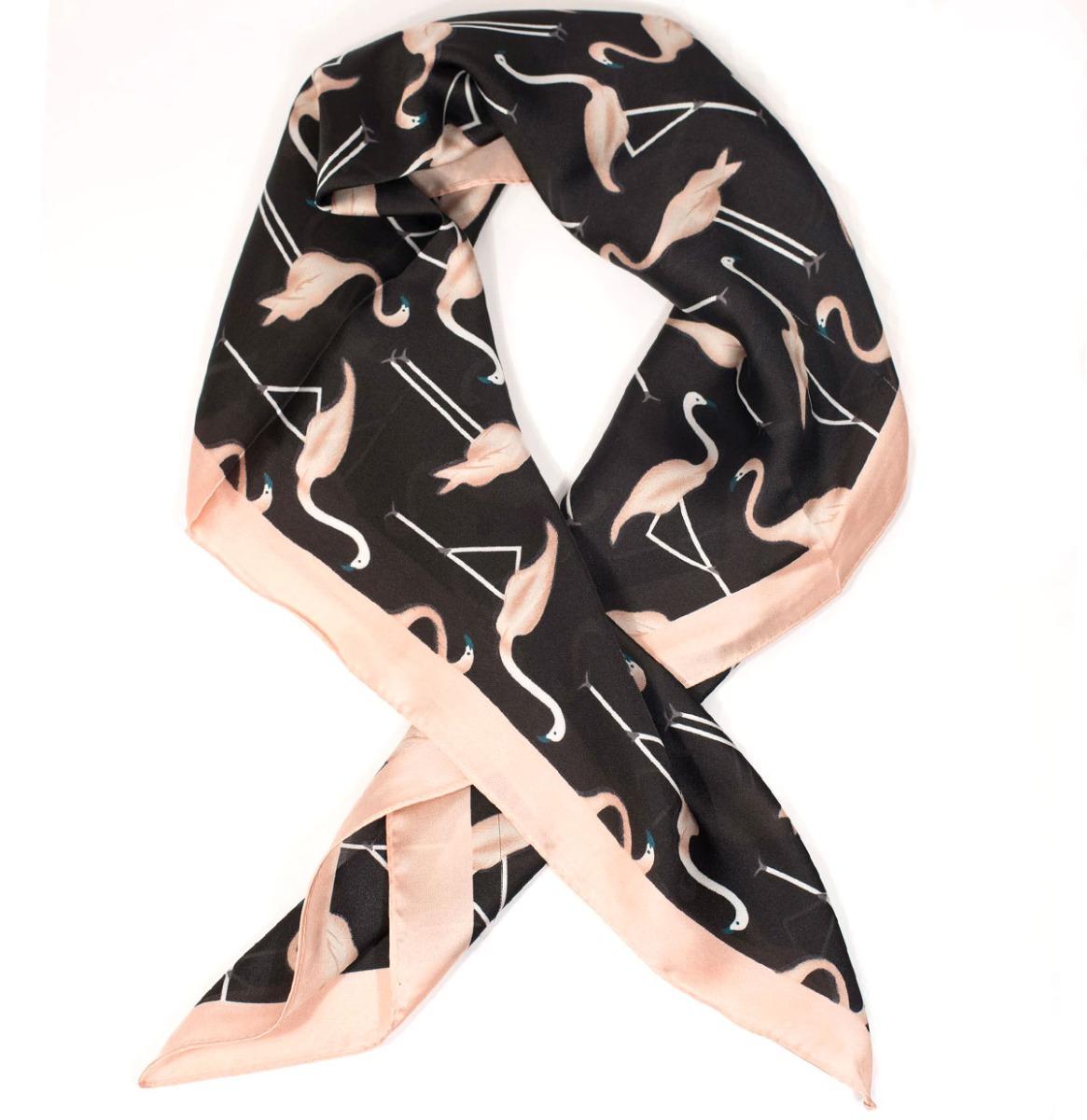 Unique Vintage Flamingo Print Sjaaltje