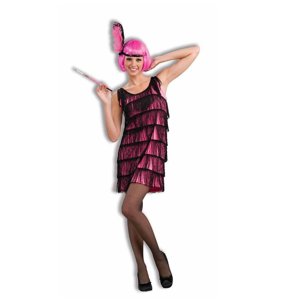 Jazzy Pink Flapper Jurk en Hoofdband