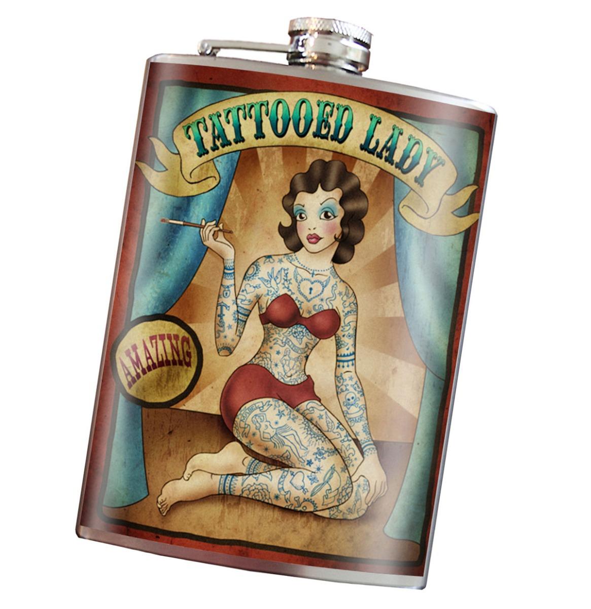 Heupfles - Tattooed Lady