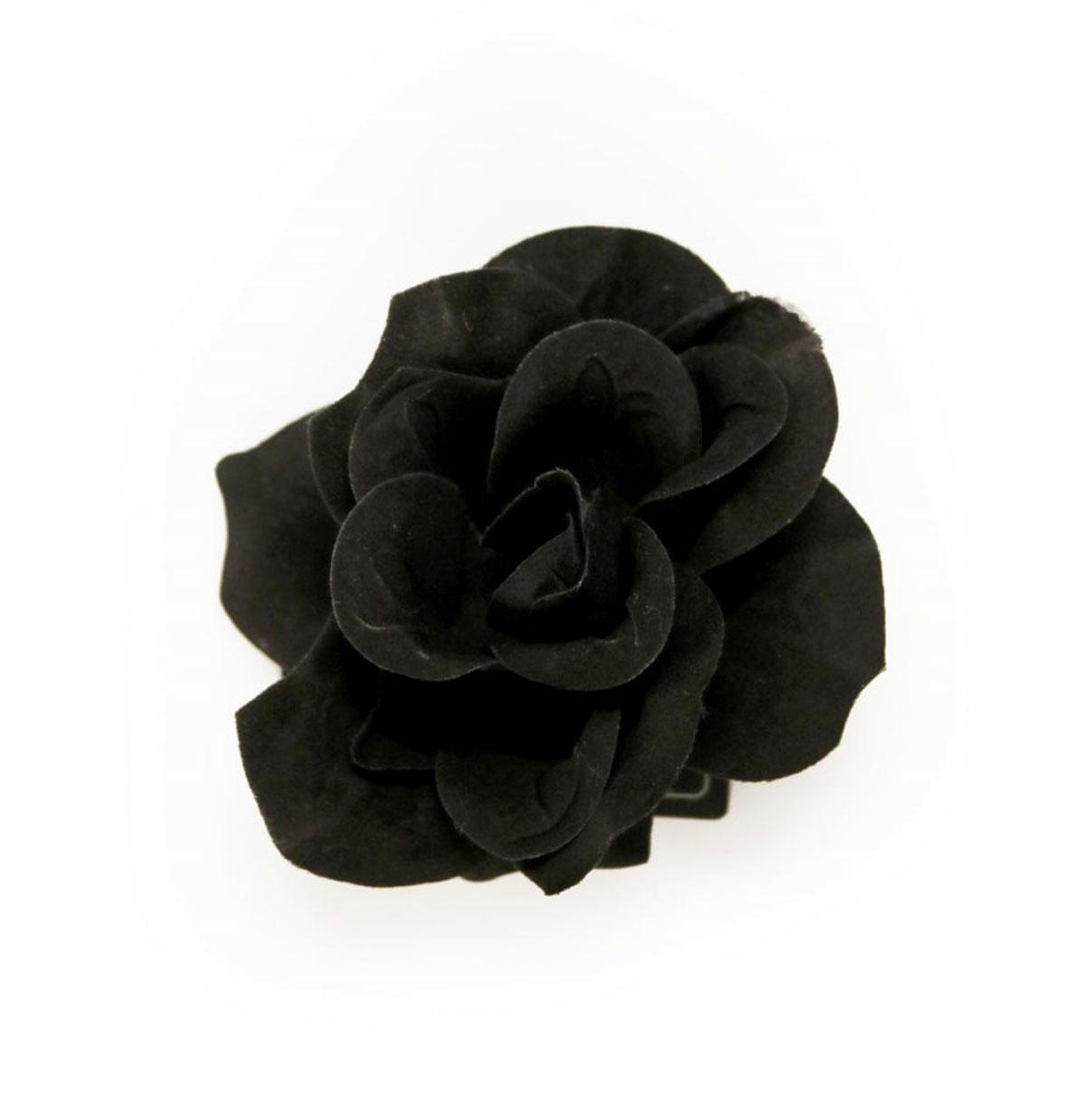 Gevlokte Haar Roos Zwart