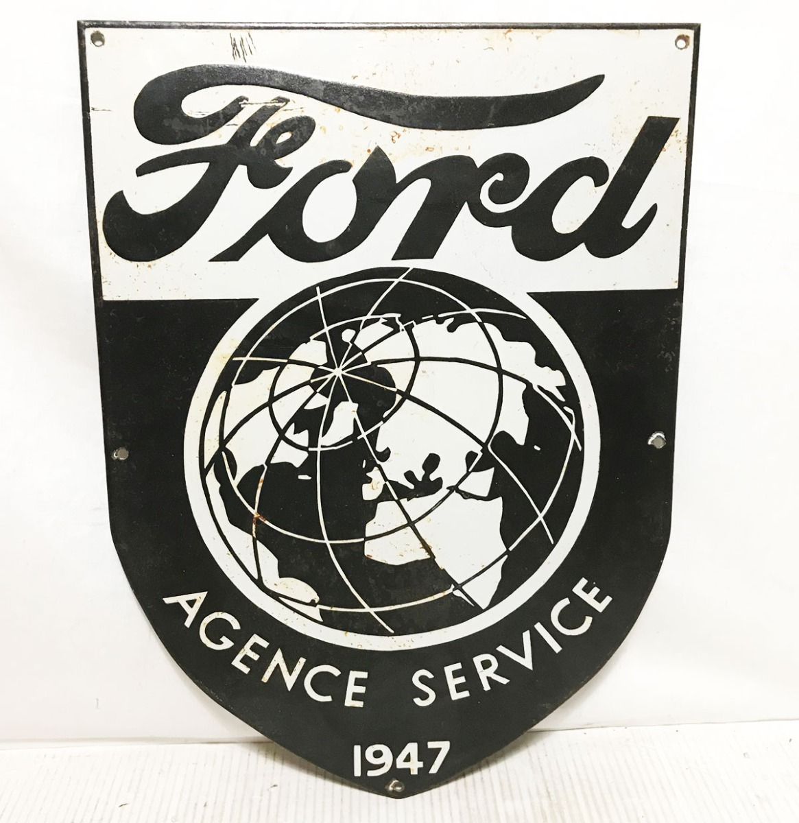 Ford Agence Service Emaille Bord - Vroege Replica