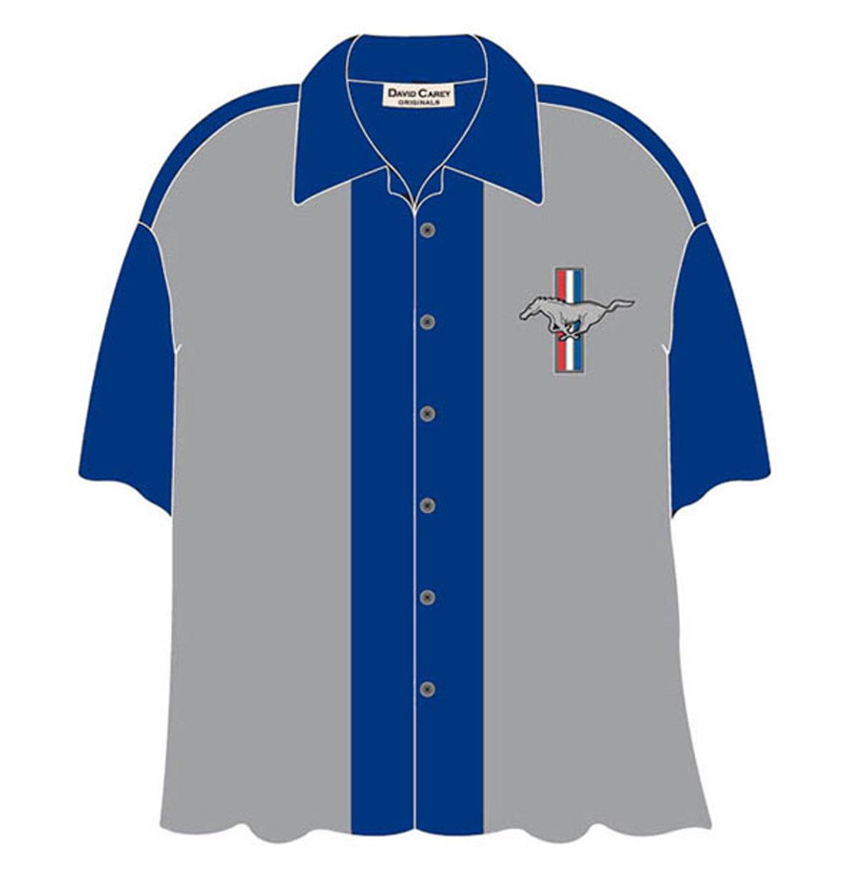 Cars Shirt Ford Mustang Club, Blauw/Grijs