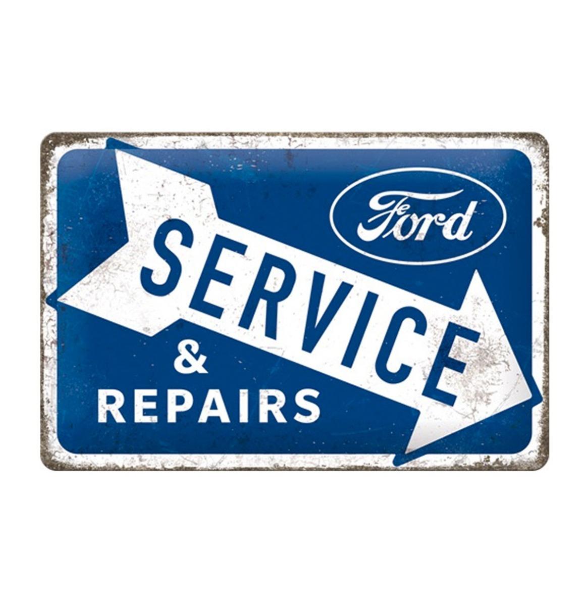 Metalen Bord 20 cm x 30 cm Ford Service & Repairs