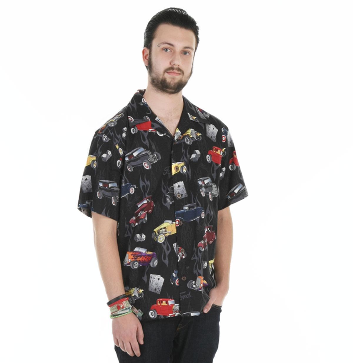 Ford Wild 32's Camp Shirt, Black