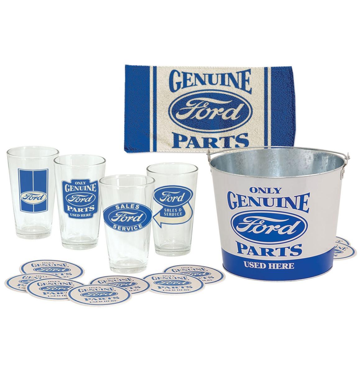 Ford Genuine Parts Bierglas Cadeau Set - 18 Delige Set