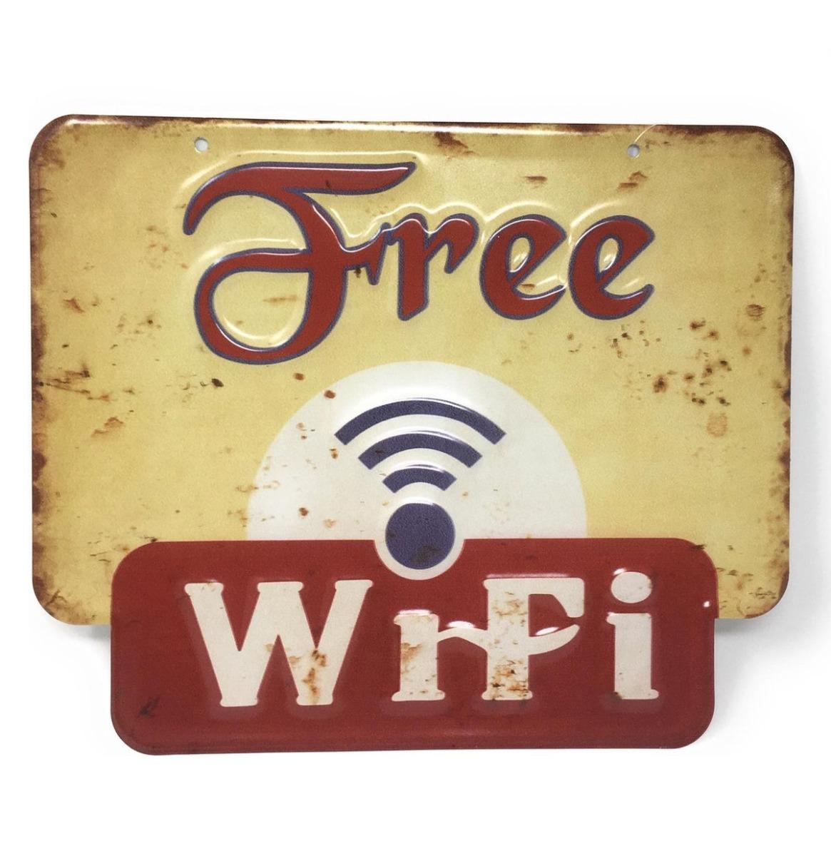 Free Wifi Bord 30 x 25 cm