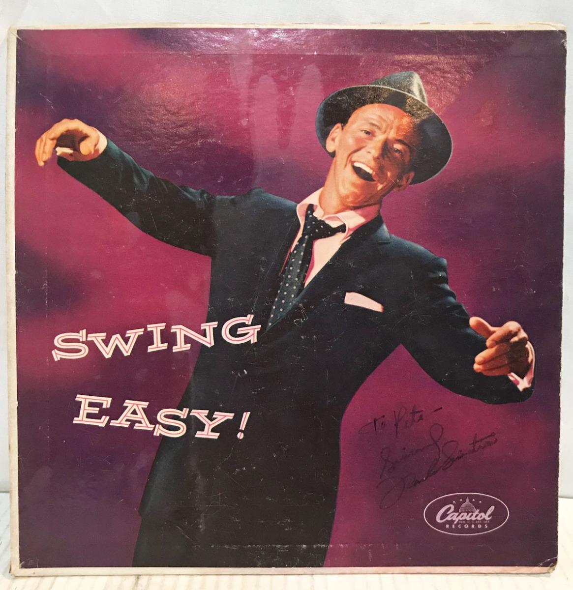 Frank Sinatra Gesigneerde 10 Inch Plaat Swing Easy