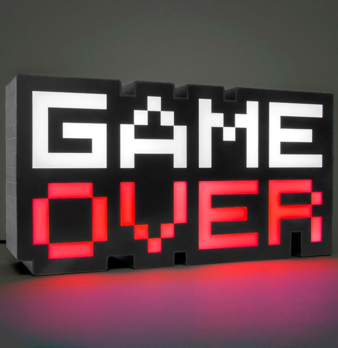 8-Bit Game Over Lamp Met Meerdere Kleuren
