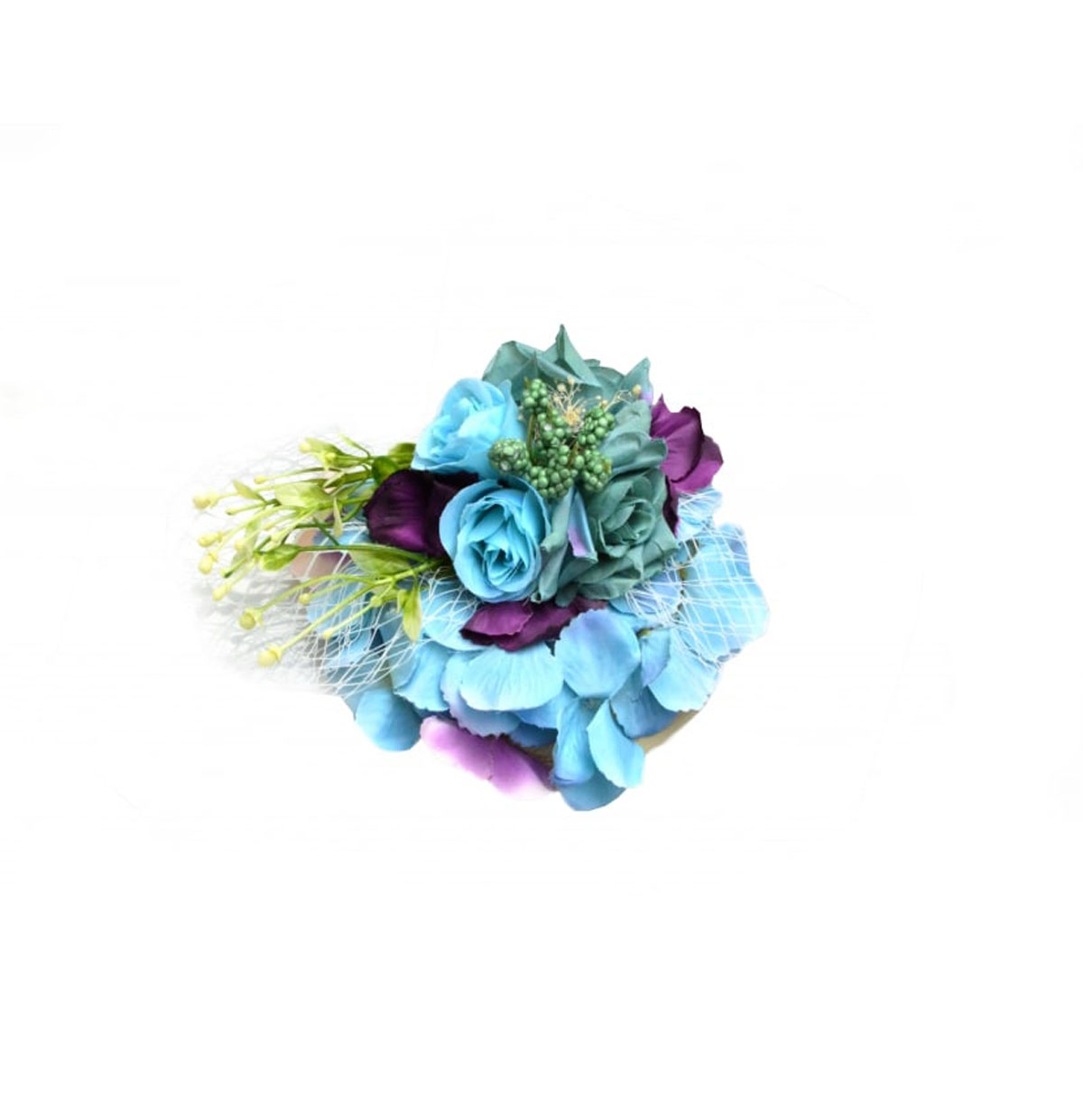Garden Bouquet Fascinator Blue