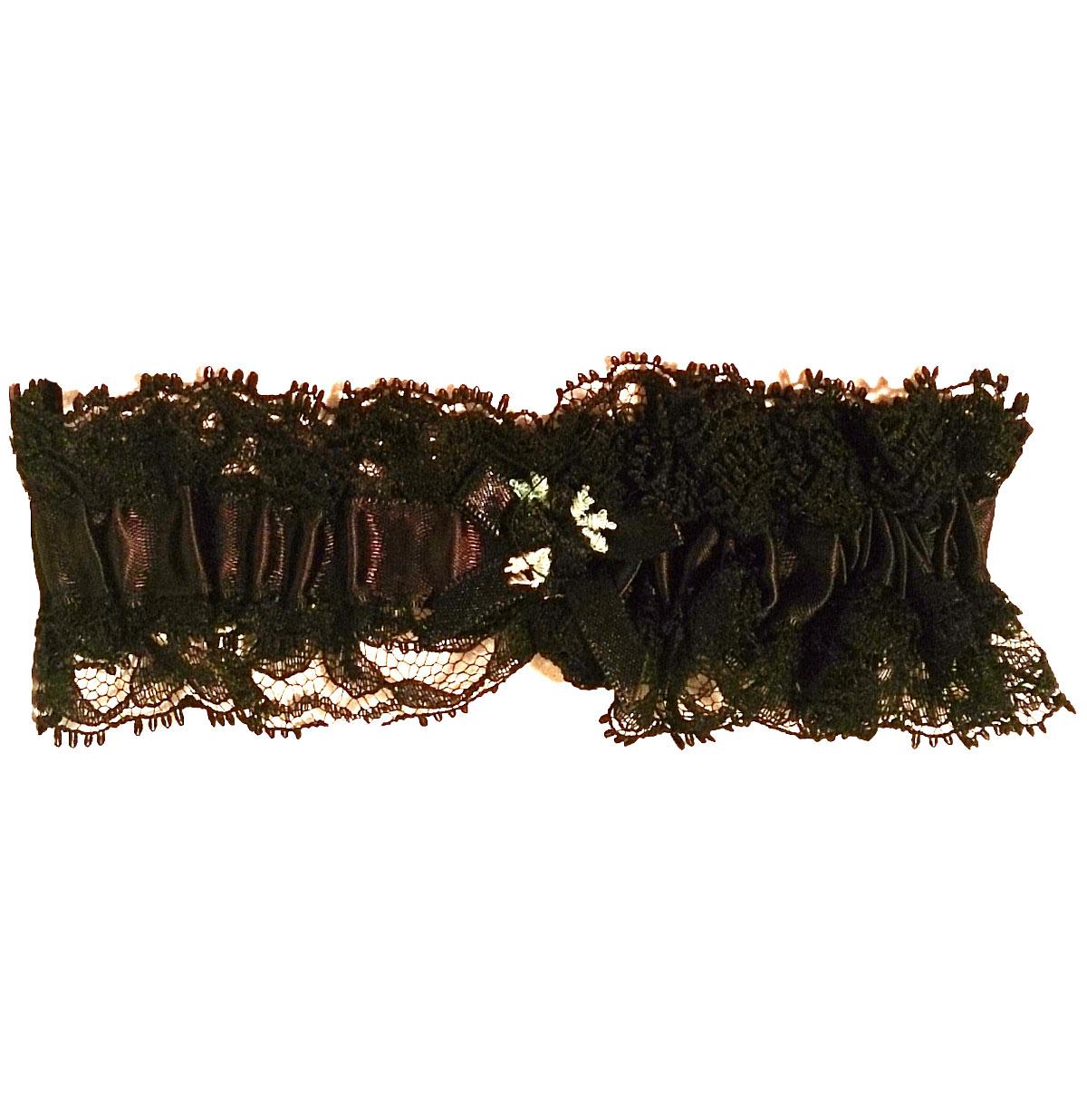 Kousenband Breed, Zwart