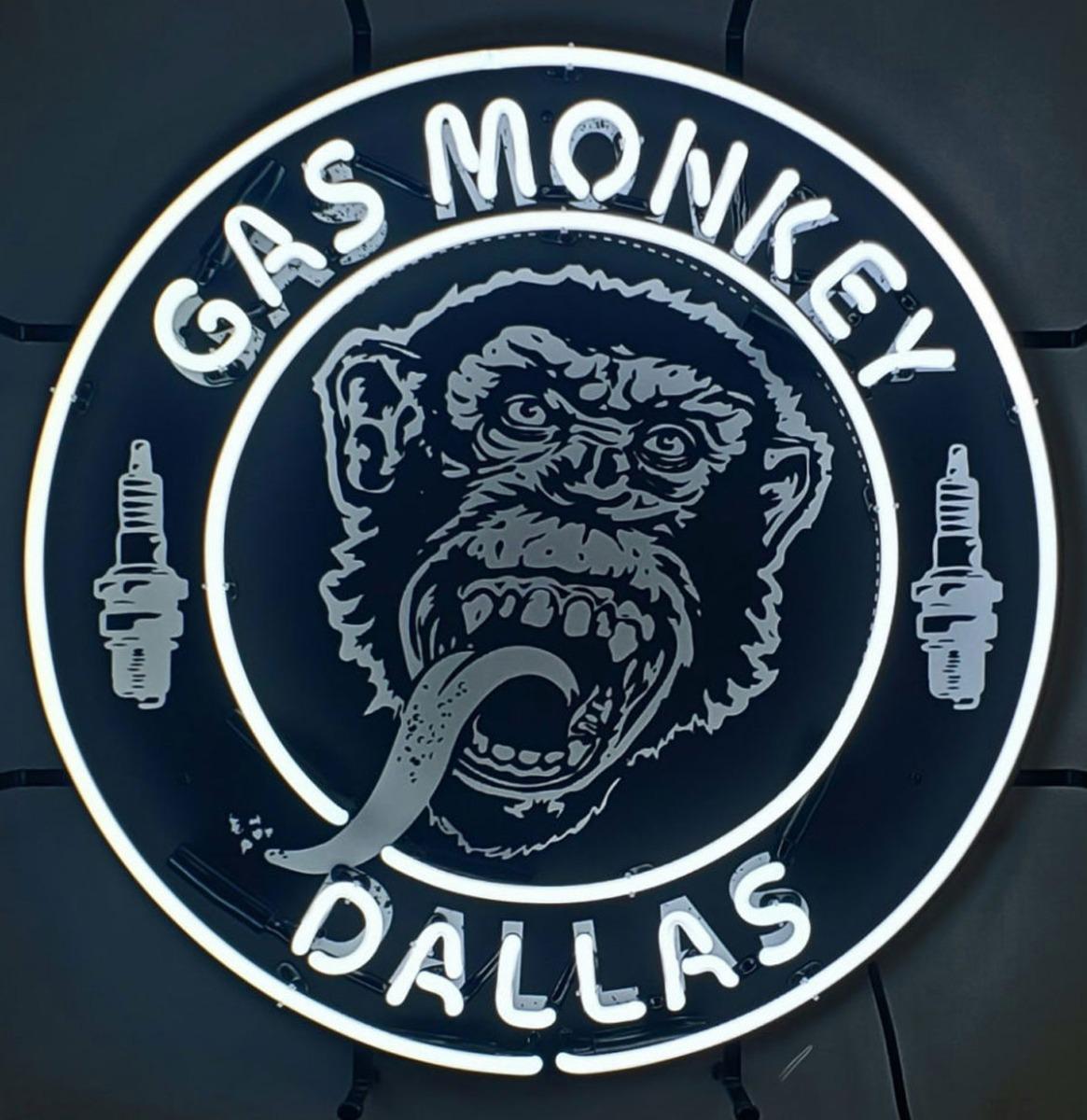 Gas Monkey Dallas Neon Verlichting 60 x 60 cm