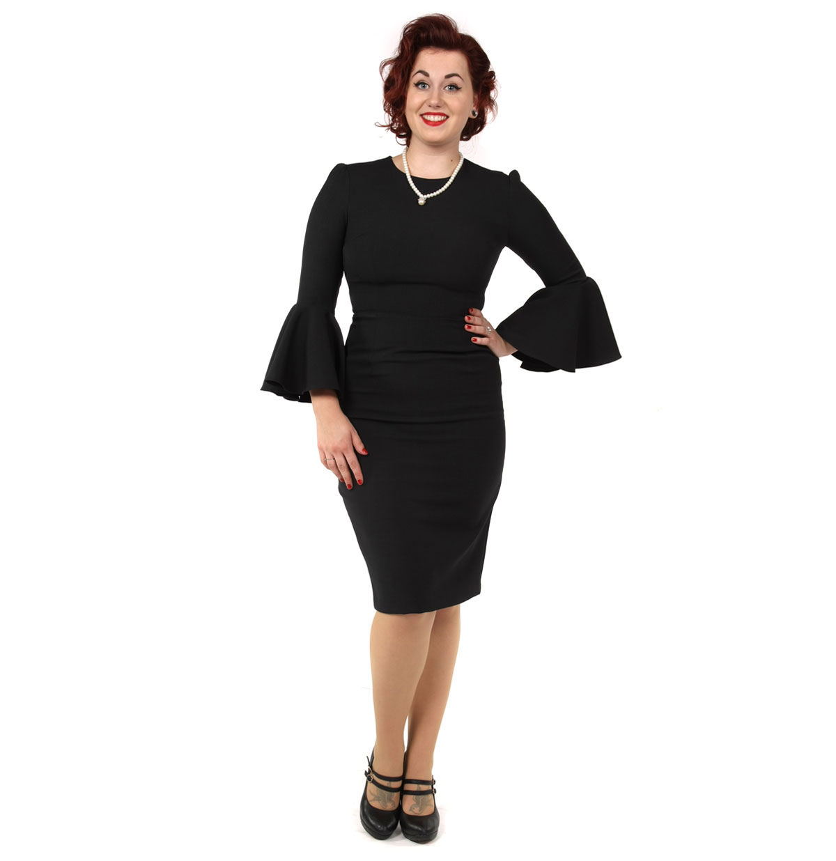 Gia Pencil Dress Black