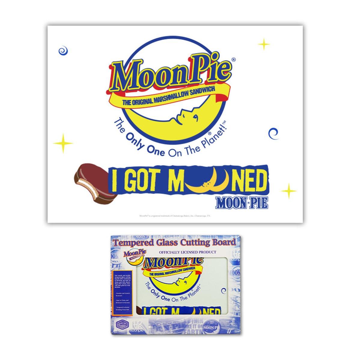 Moon Pie I Got Mooned Glazen Snijplank - 40 x 30 cm