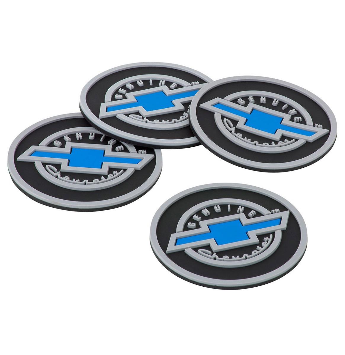 Genuine Chevrolet Rubberen Onderzetters - Set Van 4