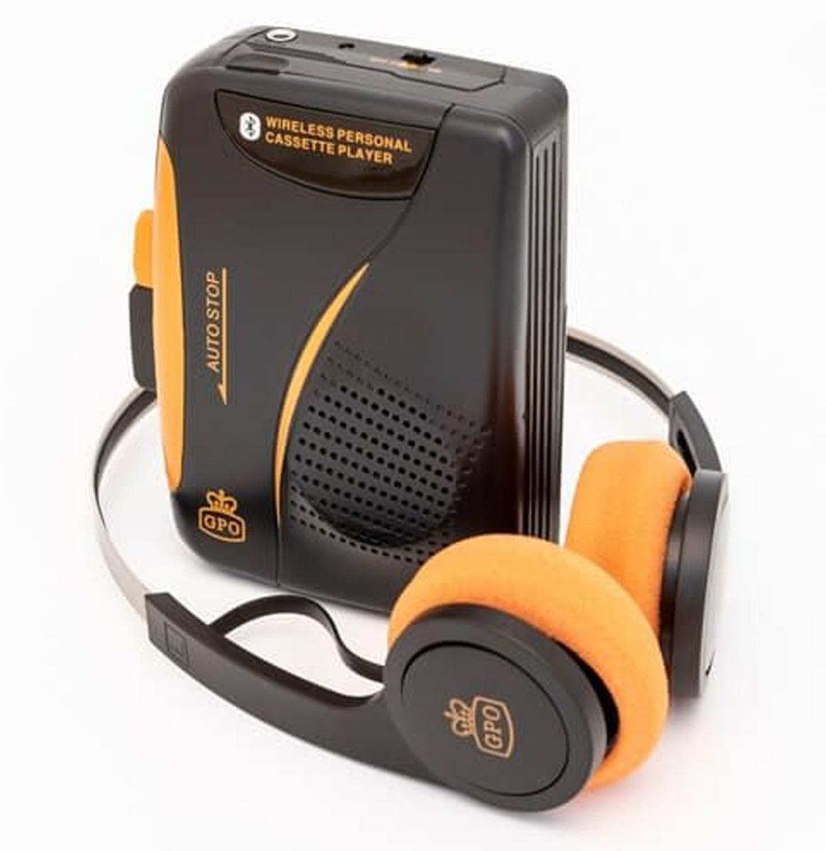 GPO Draagbare Walkman - Met Bluetooth DRAADLOZE HOOFDTELEFOON