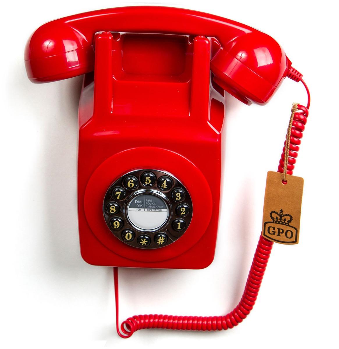 GPO Wandtelefoon '70 Ontwerp Rood
