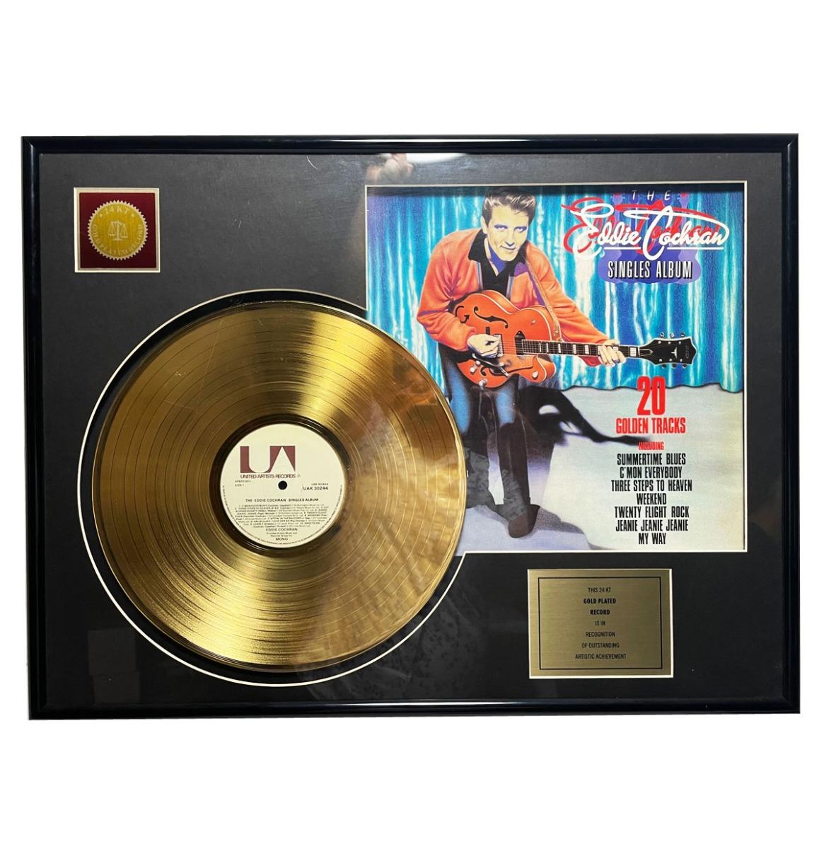 Eddie Cochran - Singles Album 24KT Gouden Plaat LP