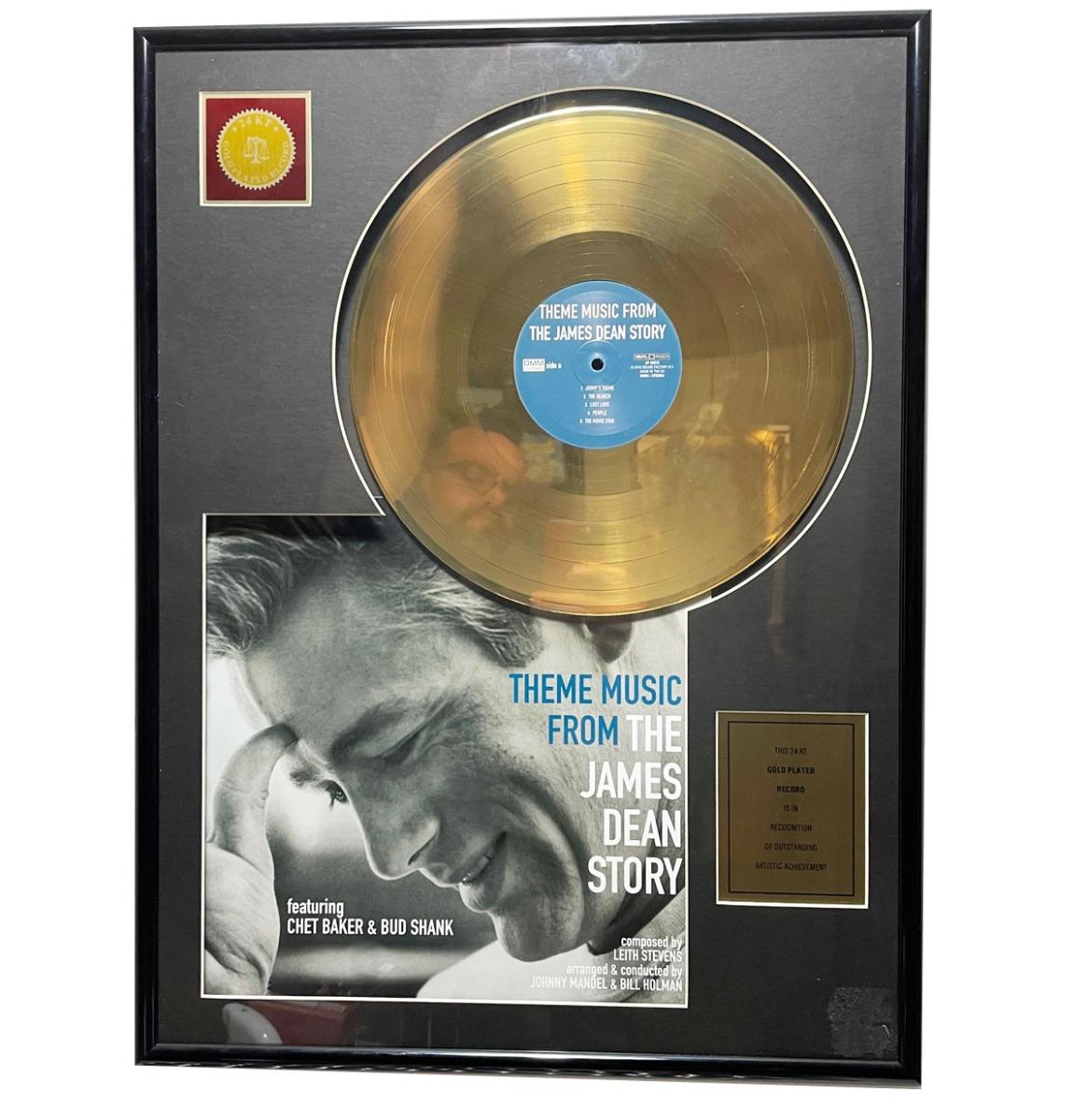 OST The James Dean Story 24KT Gouden Plaat LP