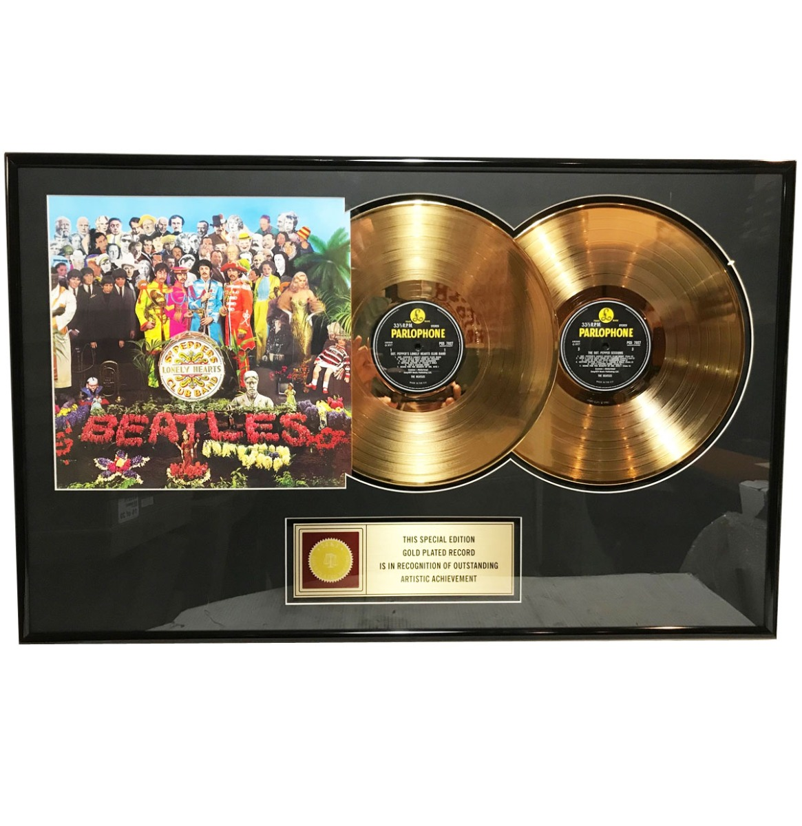 The Beatles - Sgt Peppers Lonely Hearts Club Band 24 KT Gouden Plaat 2LP