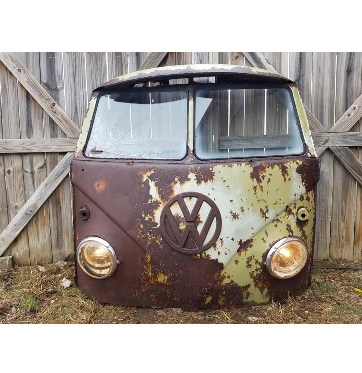 Volkswagen Minivan Voorkant - Zeldzame Gesplitste Ruiten - Origineel - Groen