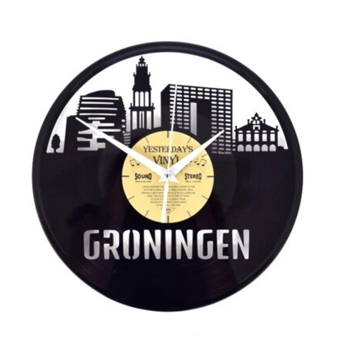 Vinyl Klok Groningen - Gemaakt Van Een Gerecyclede Plaat