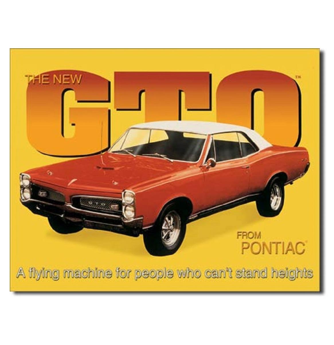 Metalen Bord The New GTO From Pontiac 40,5 x 32 cm