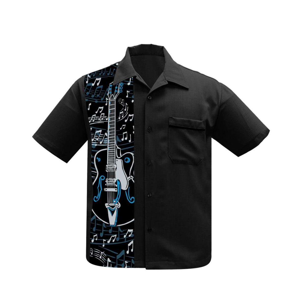 Steady Clothing Guitar Panel Shirt Zwart
