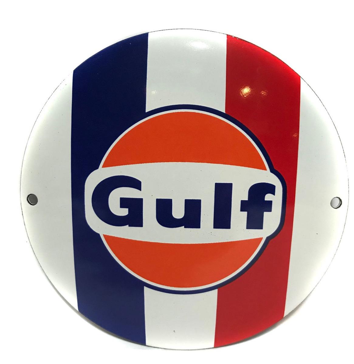 Gulf Gekleurd Emaille Bord 12 cm �