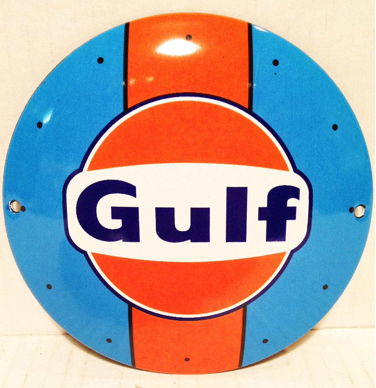 Gulf Emaille Logobord Klein