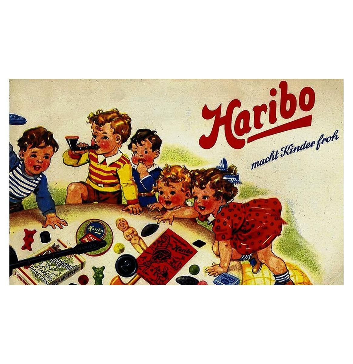 Fiftiesstore Haribo Macht Kinder Froh Metalen Bord 30 x 20 cm