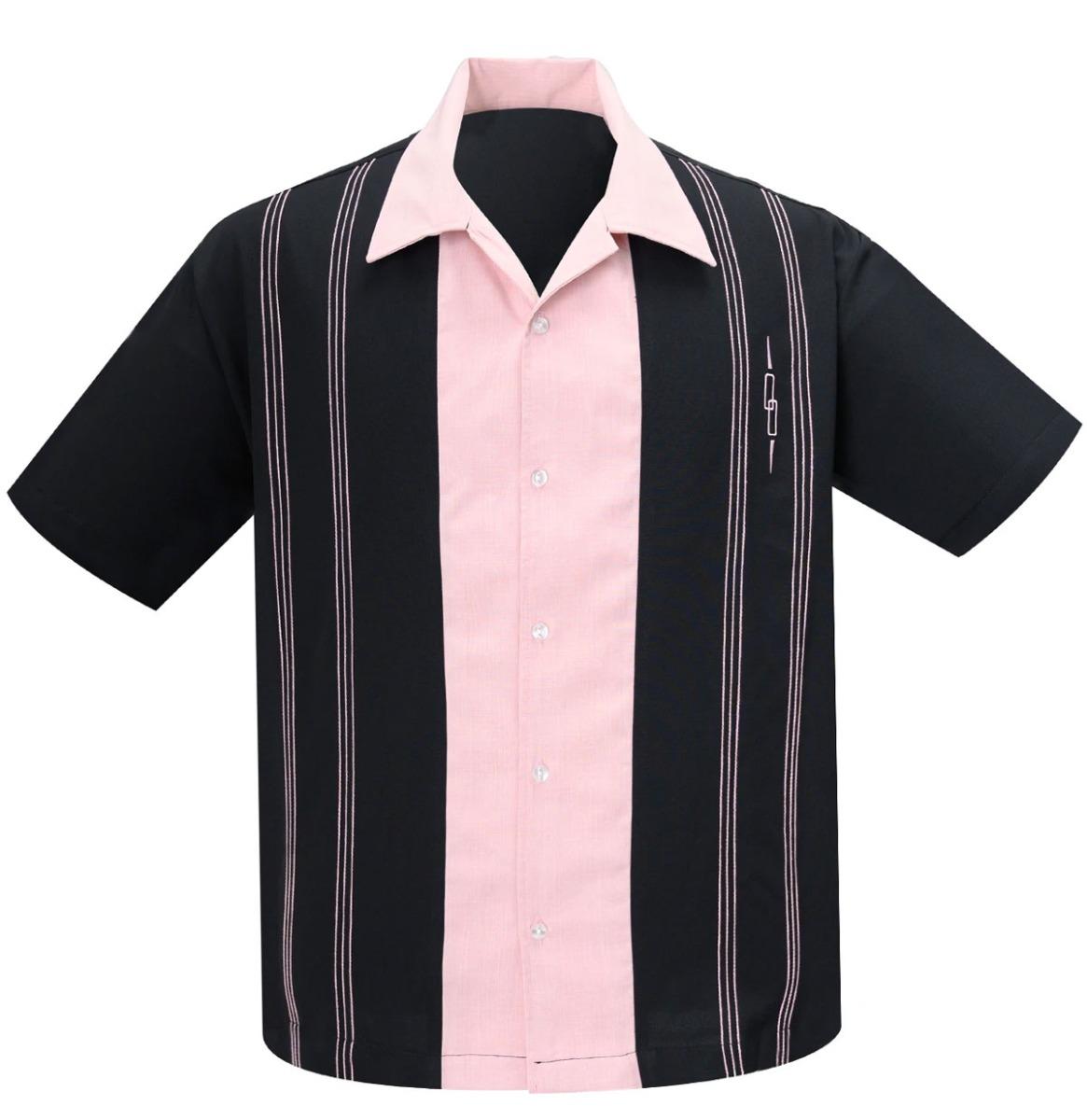 Steady Clothing The Harper Shirt Zwart / Roze