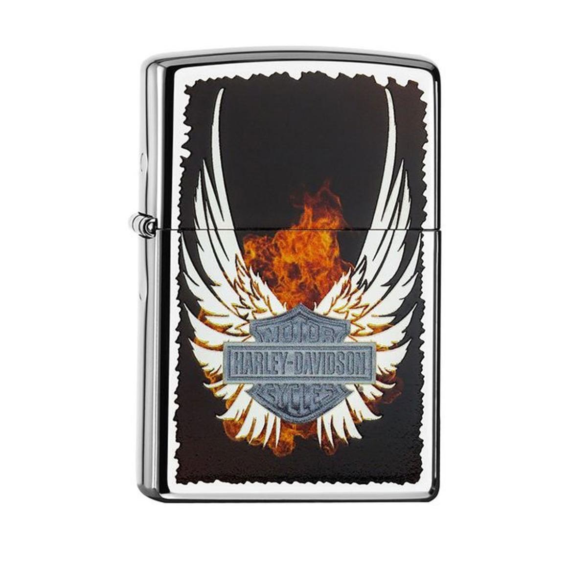 Zippo Aansteker Harley-Davidson Wings Zilver