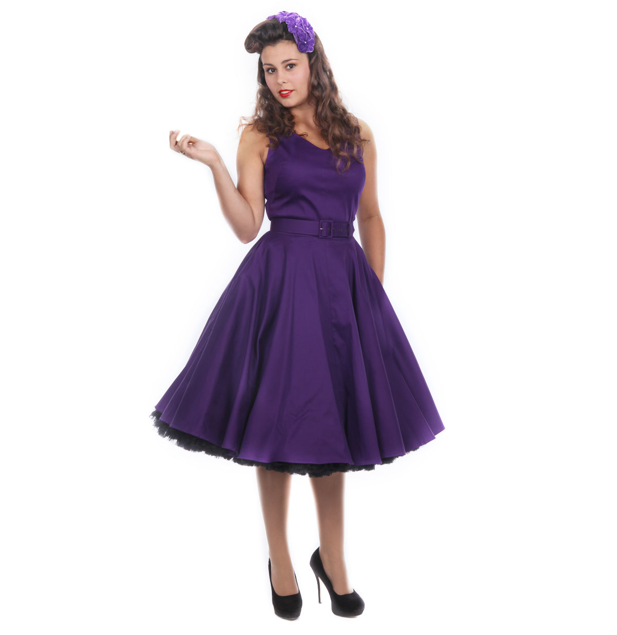 Havana Nights Dress, Purple