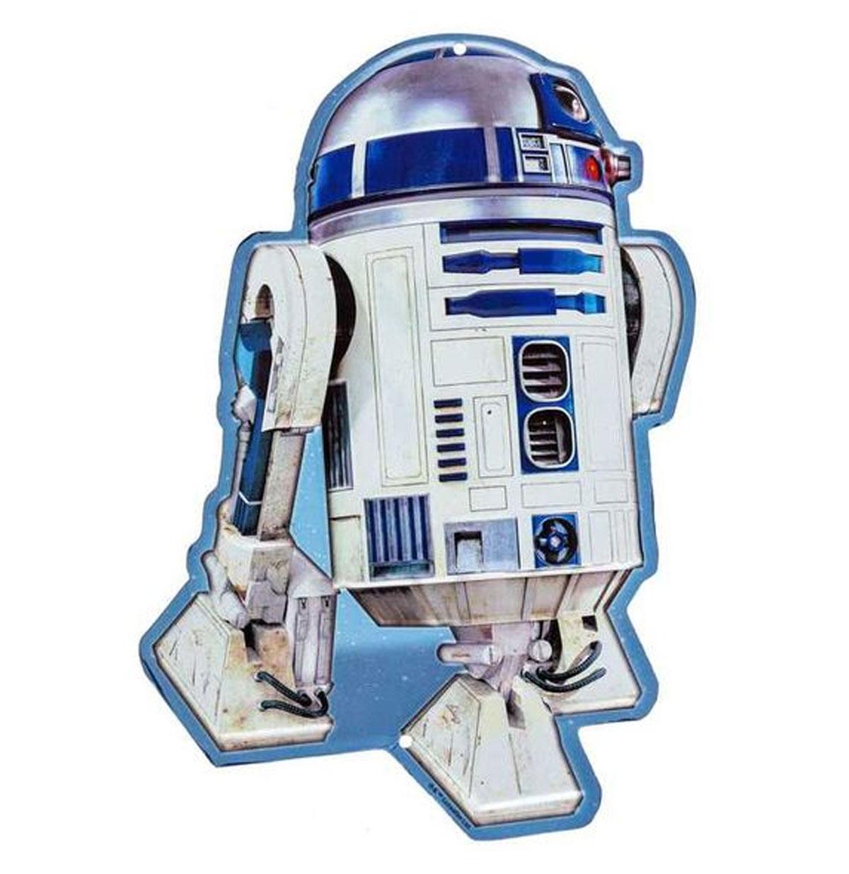 Star Wars R2-D2 Die-Cut Metalen Bord met Relief
