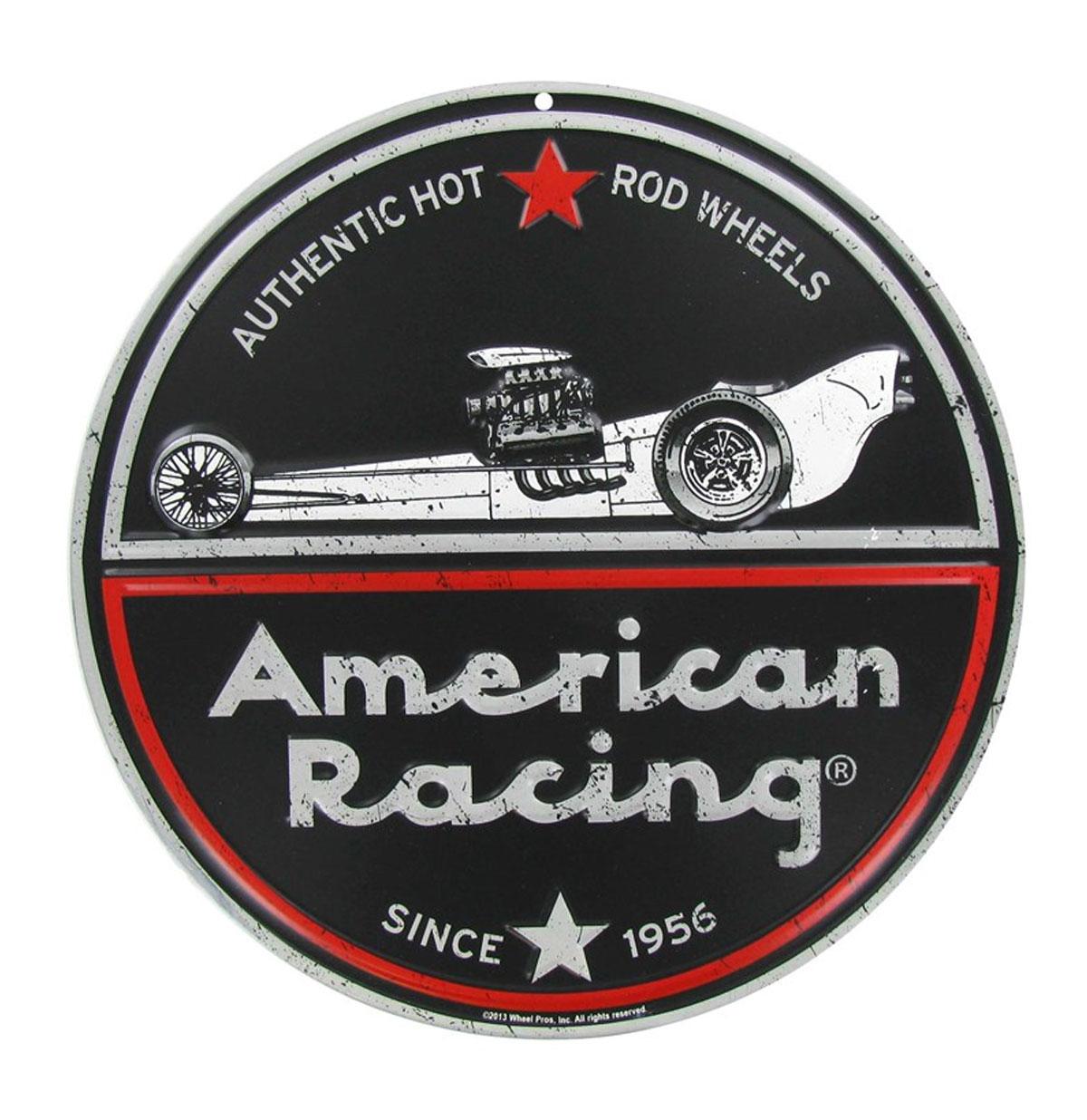 American Racing Embossed Metalen Bord 30 cm
