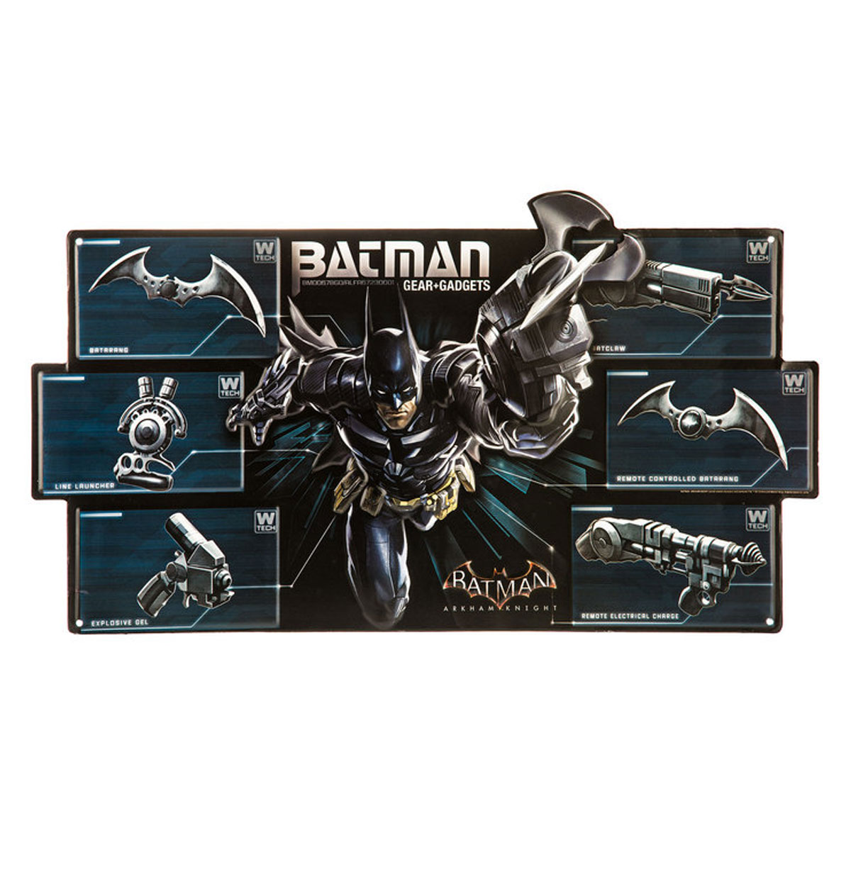 Batman Gear & Gadgets Metalen Bord met Relief